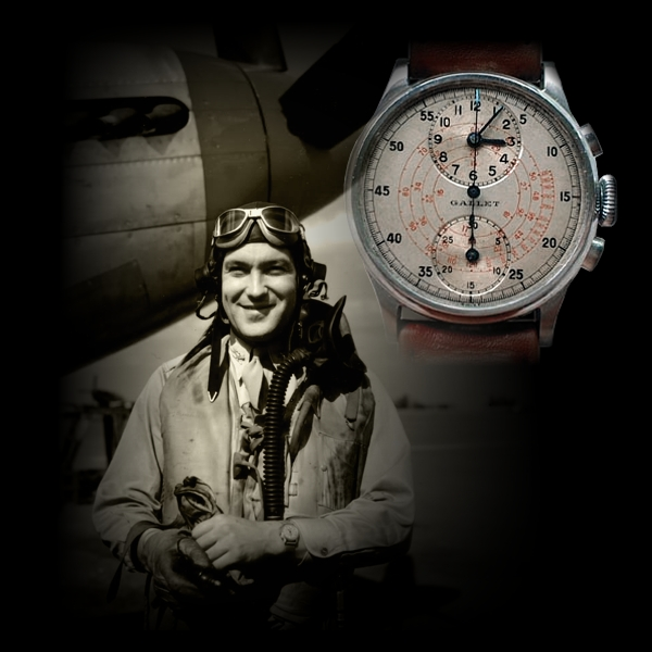 Colonel Don Blakeslee and the Gallet MultiChron Regulator chronograph...
